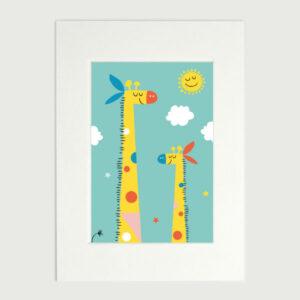 diebuntique-luftlinie-kunstdruck-mittel-giraffenland