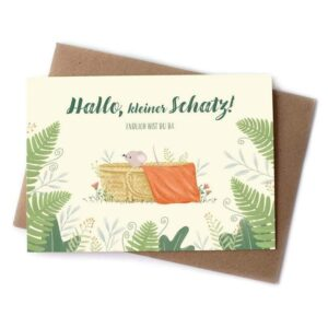 54-Illustration_Glueckwunschkarte_Hallo-kleiner-Schatz